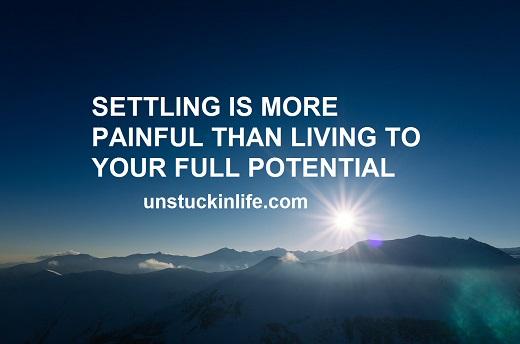 get unstuck in life