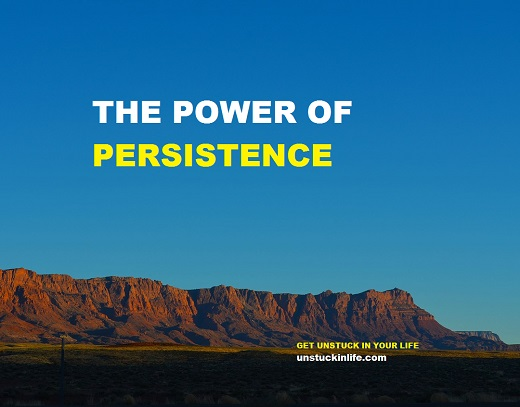 be more persistent in life